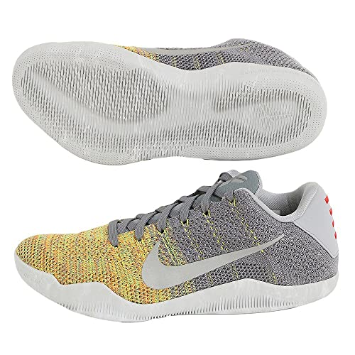 sports shoes b0388 b4ae8 Nike Men s Kobe XI Elite Low, Master of Innovation-Cool Grey Voltage Green