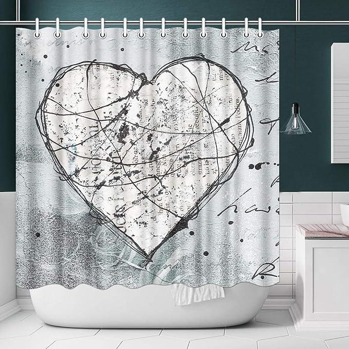 3D Musical Note Beach Shower Curtain Bathroom Waterproof Polyester Printing Curt