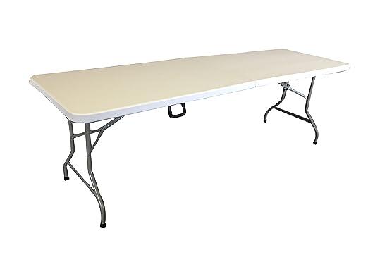 Extra grande fold-in-half 8 pies mesa plegable. SUPER RÍGIDA ...