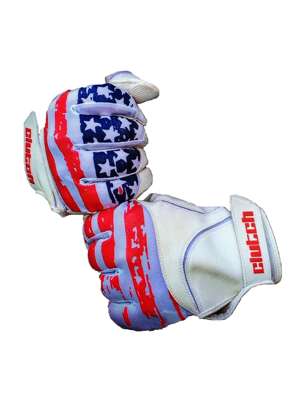 クラッチスポーツアパレルAmerican Flagバッティング手袋 B06XBCPKXK Youth Small/Medium|レッド/ホワイト/ブルー レッド/ホワイト/ブルー Youth Small/Medium