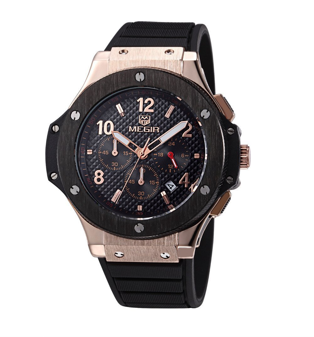 Amazon.com: Relojes de Hombre Chronograph Sport Watch Silicone Military De Hombre Para Caballero Elegante RE0101: Everything Else