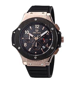 Relojes de Hombre Chronograph Sport Watch Silicone Military De Hombre Para Caballero Elegante