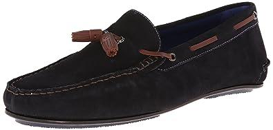 Ted Baker Mens Muddi SlipOn Loafer Dark Blue Suede