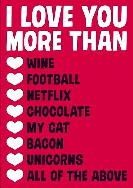 I Love You más - tarjeta de San Valentín: Amazon.es: Oficina ...