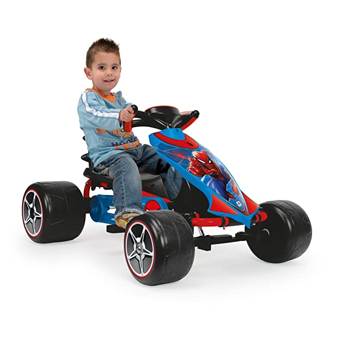 INJUSA 41260 The Ultimate Spiderman, Go Kart a Pedales, Color Azul: Amazon.es: Juguetes y juegos