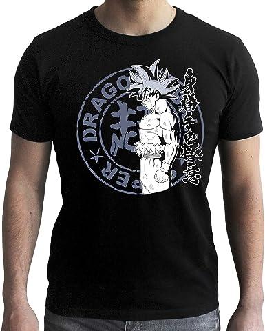ABYstyle - Dragon Ball Super - Camiseta - Goku UI - Negro - Hombre: Amazon.es: Ropa y accesorios