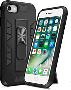 Ruky iPhone 6 6S 7 8 Case, iPhone SE 2020 Case with Kickstand Stand Military Grade Fit for Magnetic Car Mount Heavy Duty Dual Layer Shockproof Phone Case for iPhone 6/6s/7/8/SE 2020 4.7
