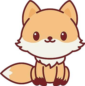 Amazon Adorable Cute Kawaii Animal Cartoon Vinyl Decal Sticker 4 Tall Fox Automotive