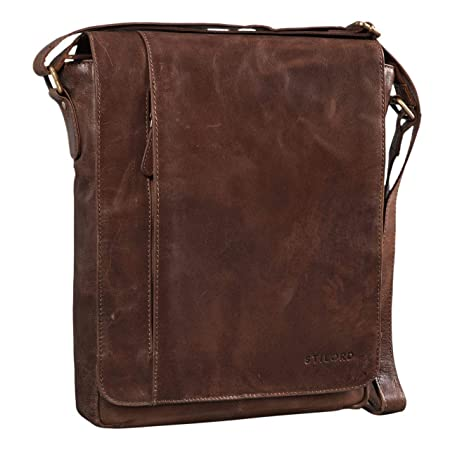 812fb115b065 STILORD 'Paul' Leather Shoulder Bag Men Vintage Messenger Bag for 13,3  inches MacBook Tablet Vertical Crossbody Bag for A4 Documents in Genuine ...