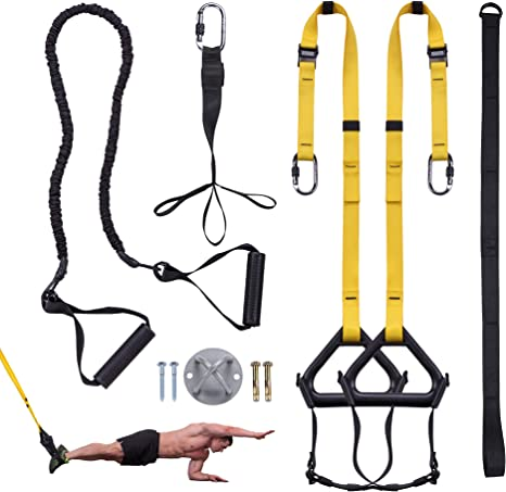Home Gym Suspension Resistance Strength Training Straps Workout Trainer Anchor