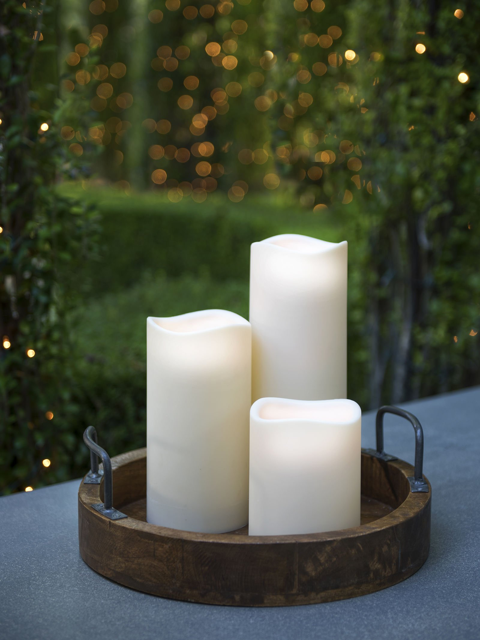 Everlasting Glow LED Indoor/Outdoor Candle, Timer, Bisque, 4.5'' x 9'' by The Gerson Company