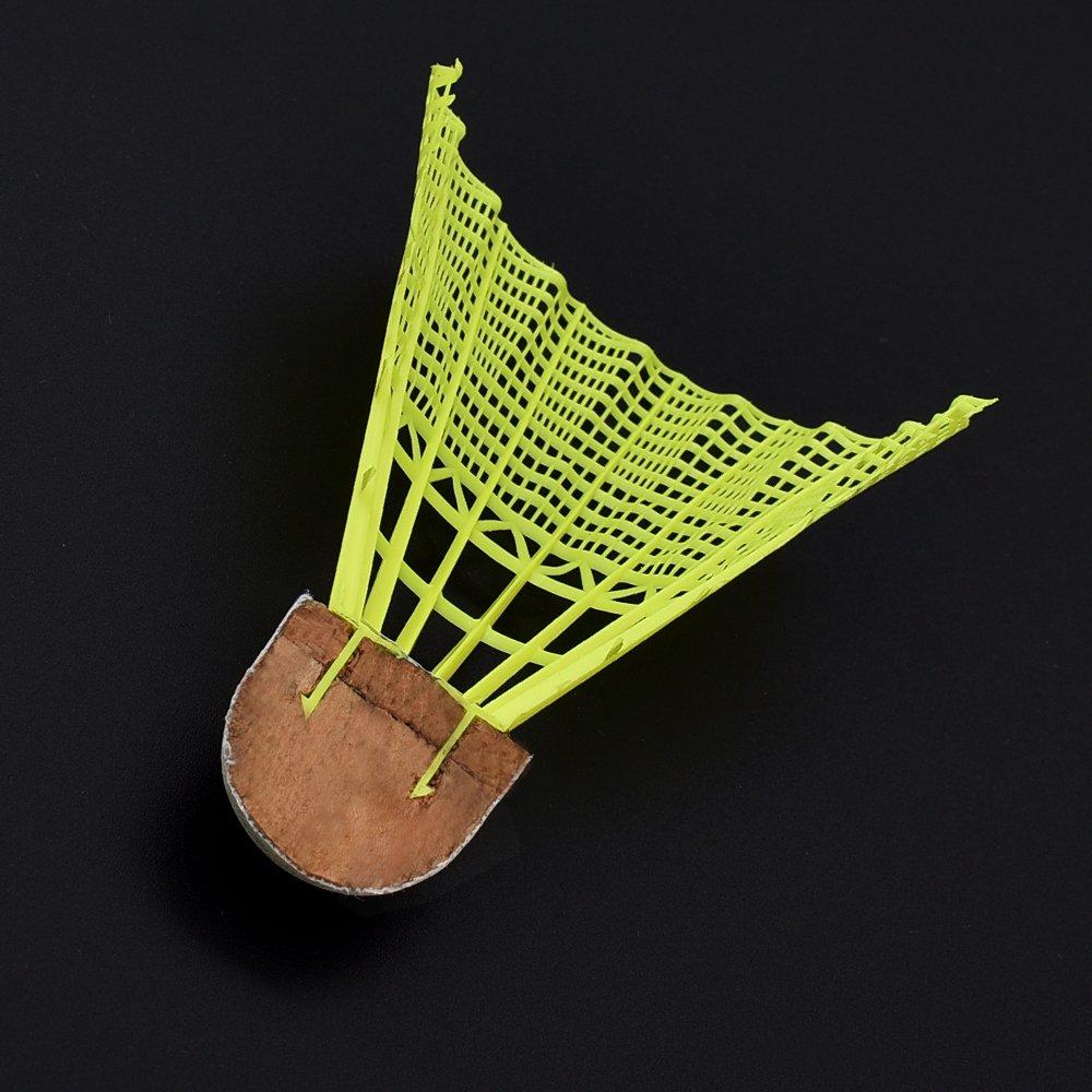 Yellow Tube of 6 for Indoor//Outdoor Game Sports Training Whizz Badminton Birdie Nylon Shuttlecocks