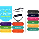 Clingks 12 Drink Markers - OCCUPATIONS - Fun Alternative to Wine Charms