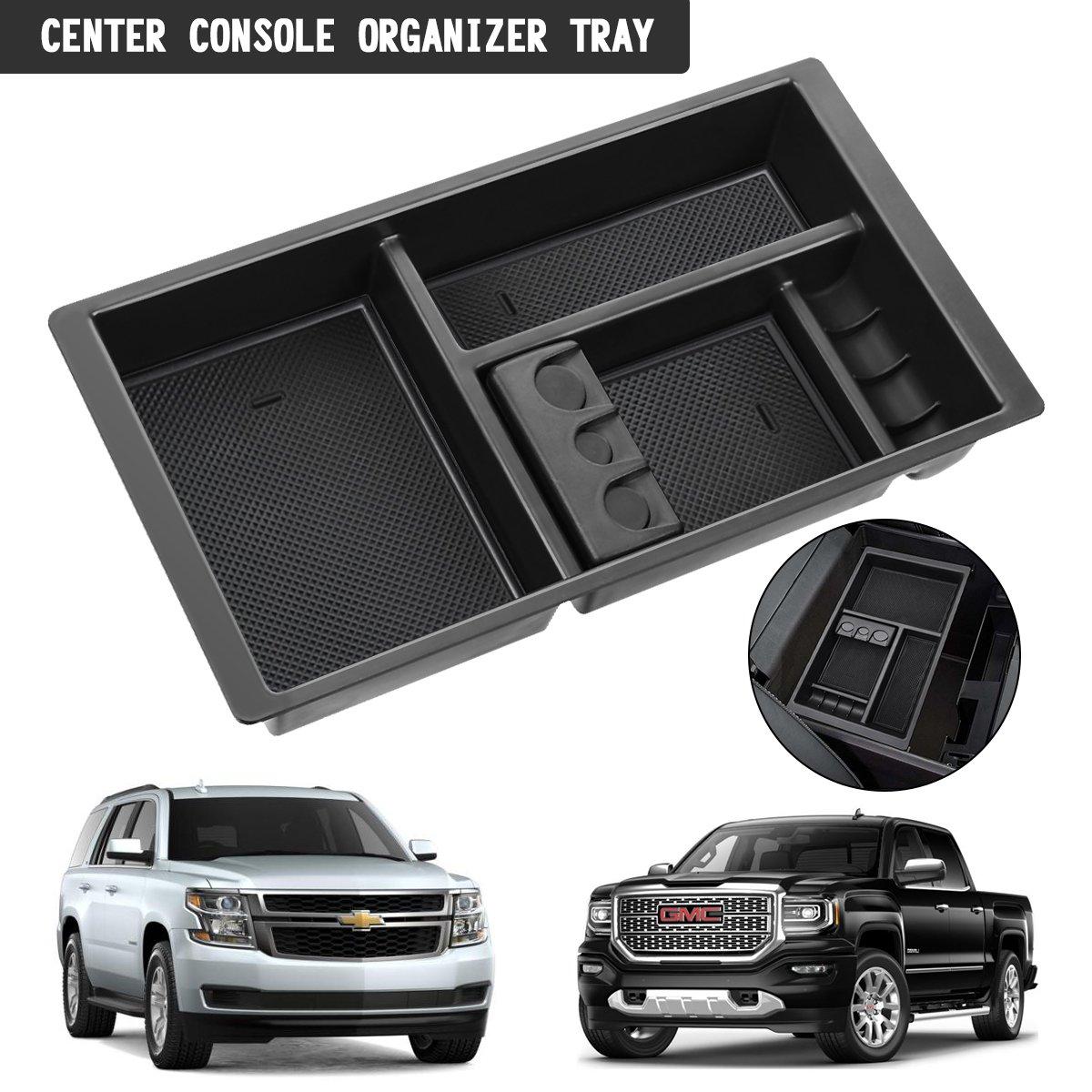 Audew Center Console Organizer Tray For Chevy Silverado Gmc Sierra 2015 Yukon 2018 Gm Vehicles
