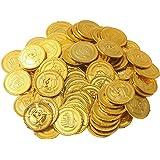 150 Münzen | Spielgeld für Kinder | Piratenmünzen für Piratenparty | Fake Geld zum Spielen | Piratenschatz | Goldmünzen | Spielzeuge als Mitgebsel nach Kindergeburtstag | Geburtstag Geschenk | Beyond Dreams