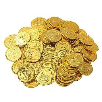 150 Münzen Spielgeld Für Kinder Piratenmünzen Für Piratenparty
