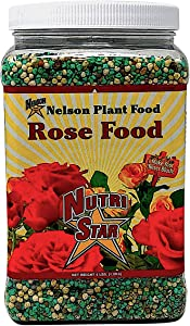 Nelson Plant Food Rose Food for All Types of Roses Climbing Tea Knock Outs Grandiflora with Five Sources of Nitrogen Nutri Star 18-14-10 (4 LB)