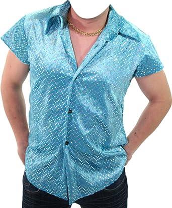 Marco Porta Faschingskostüme Ltd. & Co. KG Fiesta Camisa Turquesa con Lentejuelas: Amazon.es: Ropa y accesorios