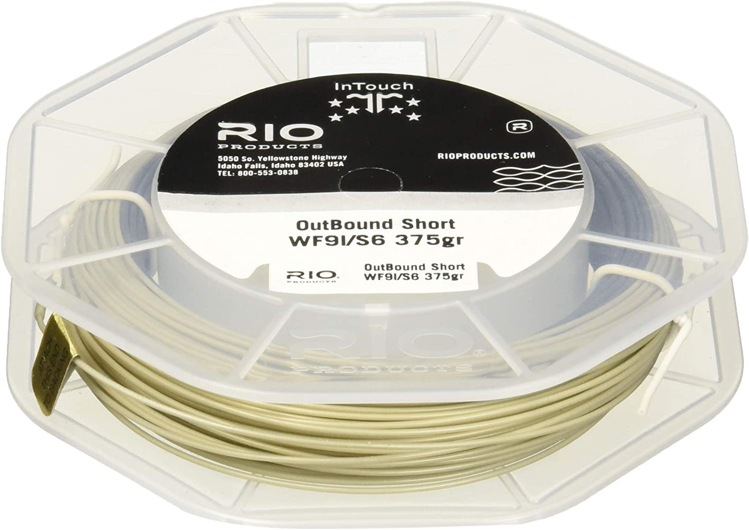 RIO Products Fly Line Intouch Outbound Short Wf8I/S3 Brow/Yellow, Brown-Yellow