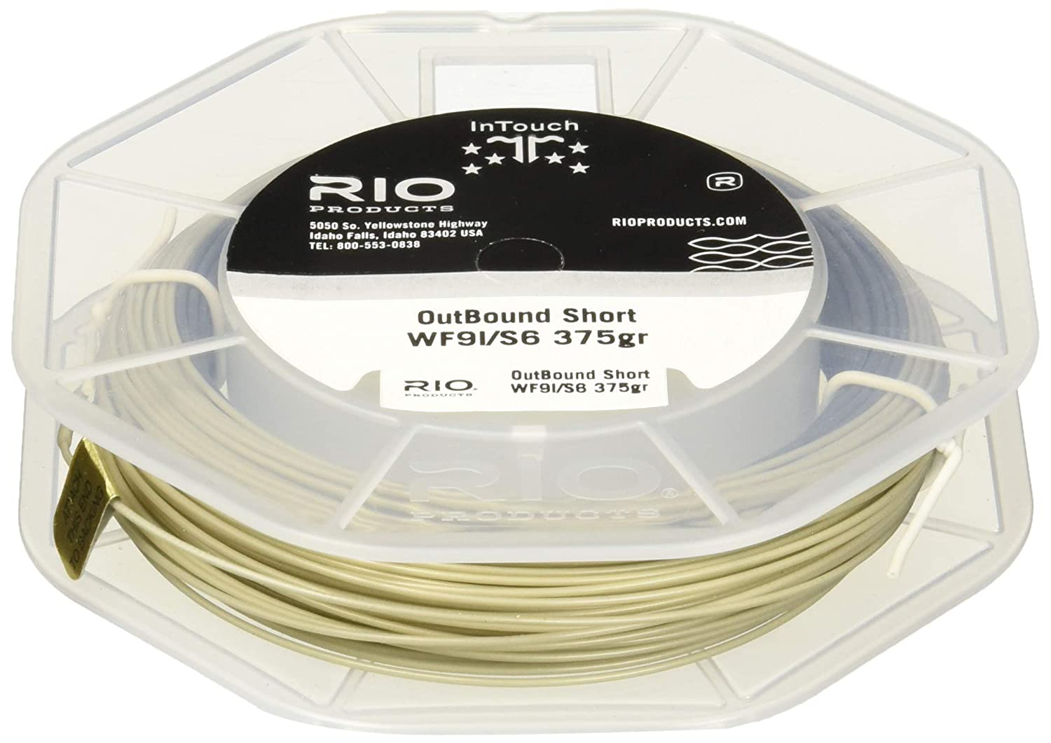 Brown-Yellow RIO Products Fly Line Intouch Outbound Short Wf8I//S3 Brow//Yellow