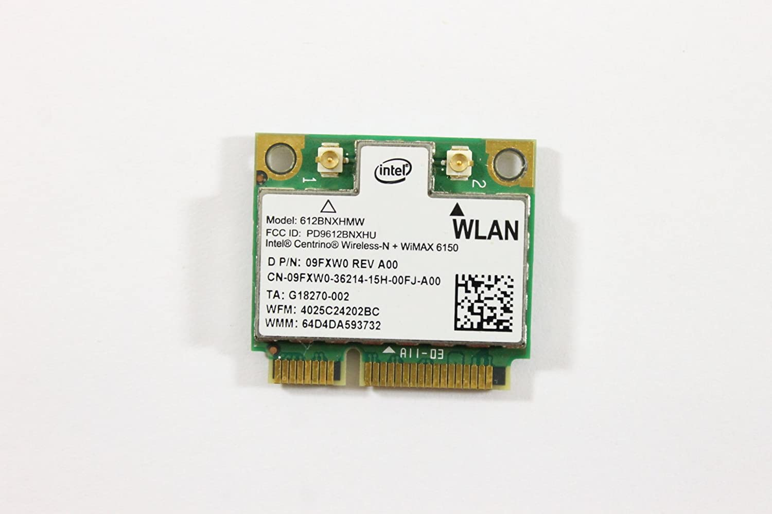 Dell Mini PCI Express Half Height 9FXW0 WLAN WiFi 802.11n Wireless Card Inspiron N4030
