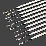 Willingood WLA05 Metallic Marker Pens Kreidestifte (10 Farben) für Gästebuch, Landkarte, Adult coloring Bücher Schöne Farbe