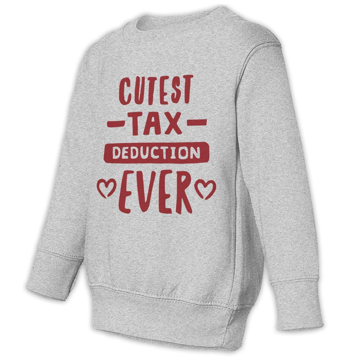NMDJC CCQ Cutest Tax Deduction Ever Baby Sweatshirt Lovely Kids Hoodies Soft Pullovers
