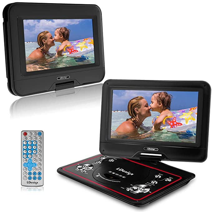 "Review 10.5"" Portable DVD Player,"