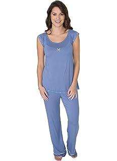 Kathy Ireland Womens Lightweight Shirt Long Pants Pajama Lounge Sleep Set 510cbd9c7