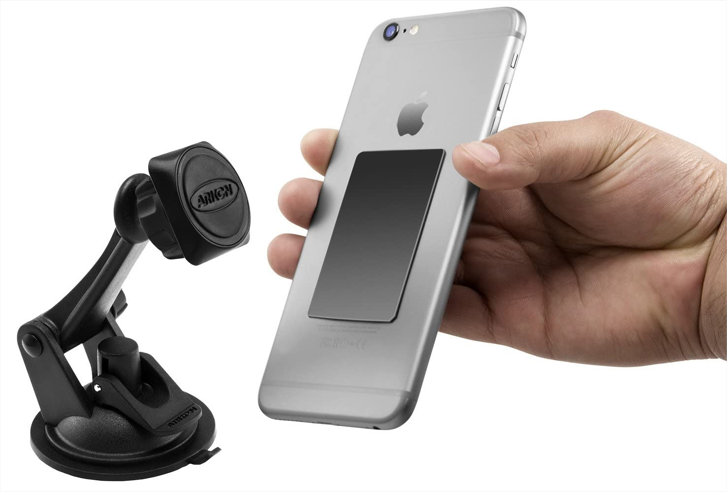 Arkon Magnetic Phone Mount Holder for iPhone X 8 7 6S Plus iPhone 8 7 6S 6 Galaxy Note 8 5 S8 S7 Retail Black