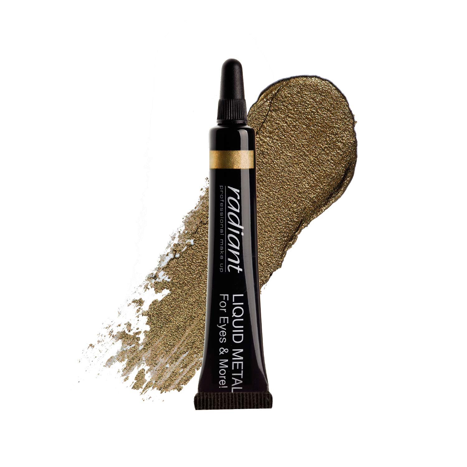 Radiant Professional Liquid Metal Eyeshadow For Eyes & Lips, Waterproof Liquid Shadow for Intense Color & Long Lasting Effect, Fast Drying Smudge Proof Metallic Pigment, 0.23 ounces (21)