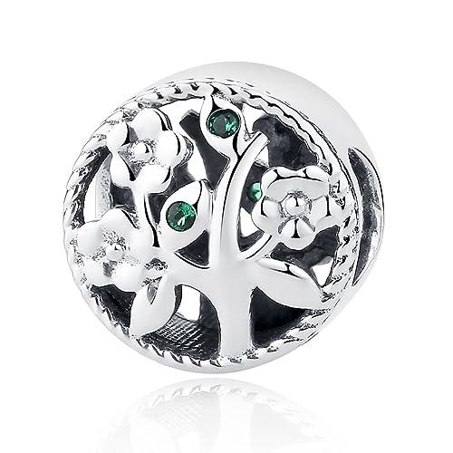 7c446f985c47 Abalorio para pulsera Pandora, de plata de ley, diseño del árbol de la vida
