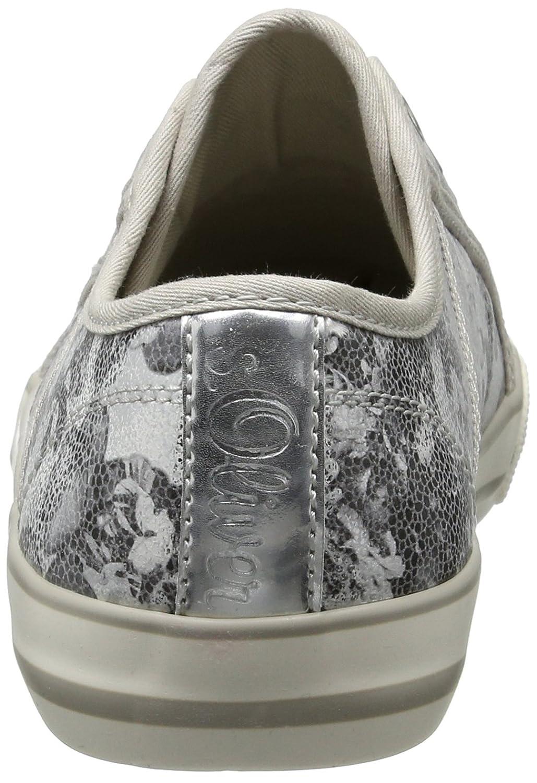 S.Oliver 24626 Damen 24626 S.Oliver Sneaker Mehrfarbig (Silver/schwarz 932) febc13