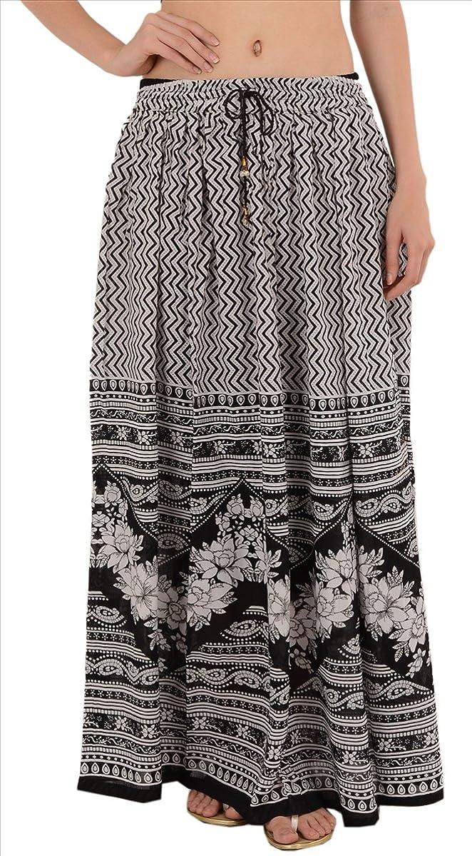 Skirts & Scarves Faldas y Bufandas rayón Impreso de la Mujer Largo ...