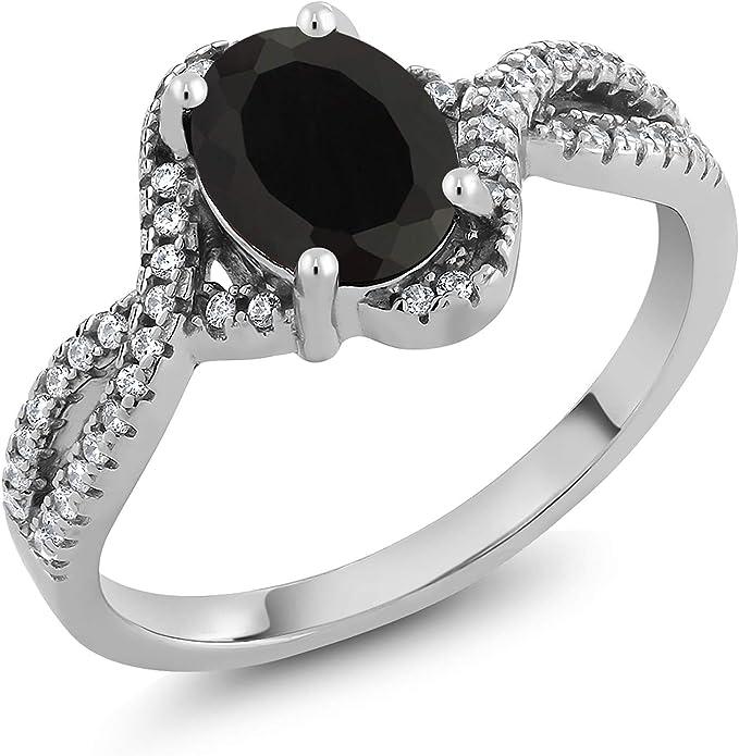 Round Ring Size 3 4 5 6 7 8 9 10 Prong Set Ring February Birthstone Black Onyx Ring Black Stacking Ring Gold Ring