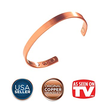 ff4f1b1c466 Earth Therapy, The Original Pure Copper Magnetic Healing Bracelet for  Arthritis, Carpal Tunnel,