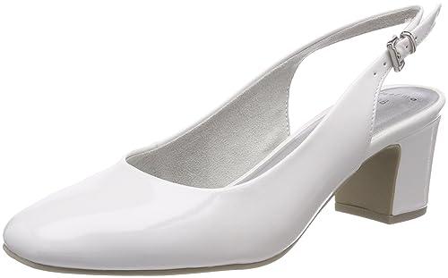 Marco Tozzi 29600 Scarpe con Cinturino alla Caviglia Donna Bianco White