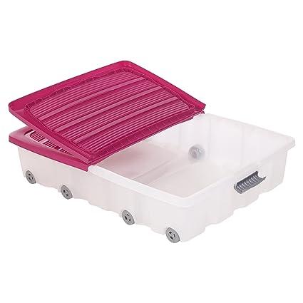 Set de 2 cajas de almacenamiento para debajo de la cama, hechas de plá