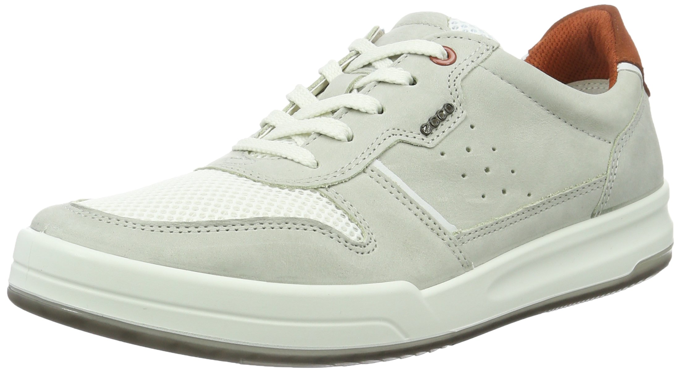 ECCO Men's Jack Summer Fashion Sneaker, Wild Dove/White, 43 EU/9-9.5 M US