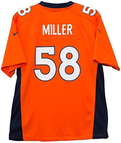 886a93fd4 Nike Von Miller Denver Broncos Orange Game Youth NFL Jersey (Youth Small 8)