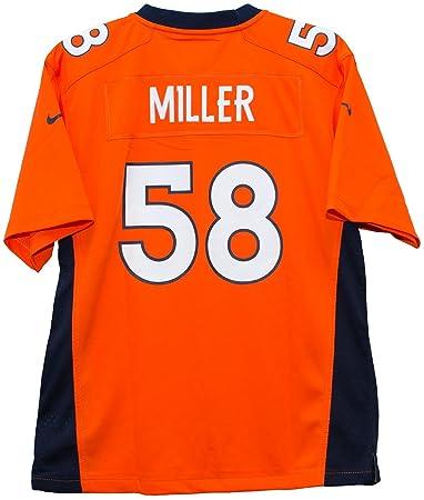 the best attitude 4ee8f e69d1 Nike Von Miller Denver Broncos Orange Game Youth NFL Jersey