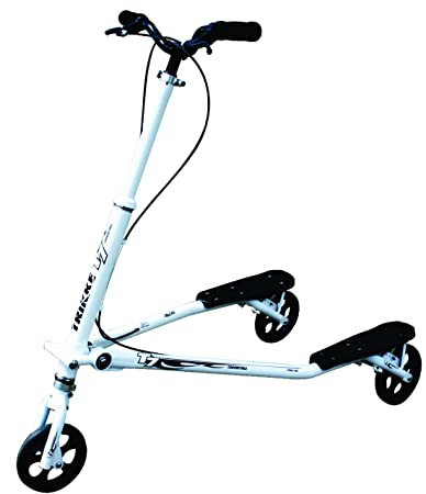 Trikke T7 Fitness Carving Scooter Convertible Black/White