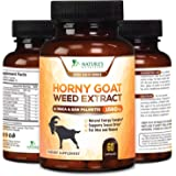 Horny Goat Weed Extra Strength 1560mg for Men and Women, Supports Natural Desire, Stamina and Strength with Maca, L-Arginine,