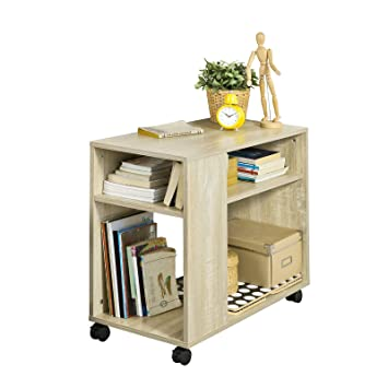 SoBuy® Mesita baja de salón con ruedas - Mueble multiuso - FBT34-N: Amazon.es: Hogar