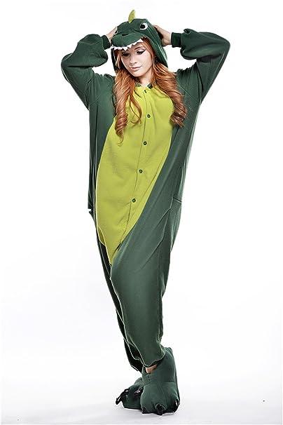 5be072720a Adult Onesie Sleepwear Anime Pajamas Kigurumi Green (Medium)  Amazon ...