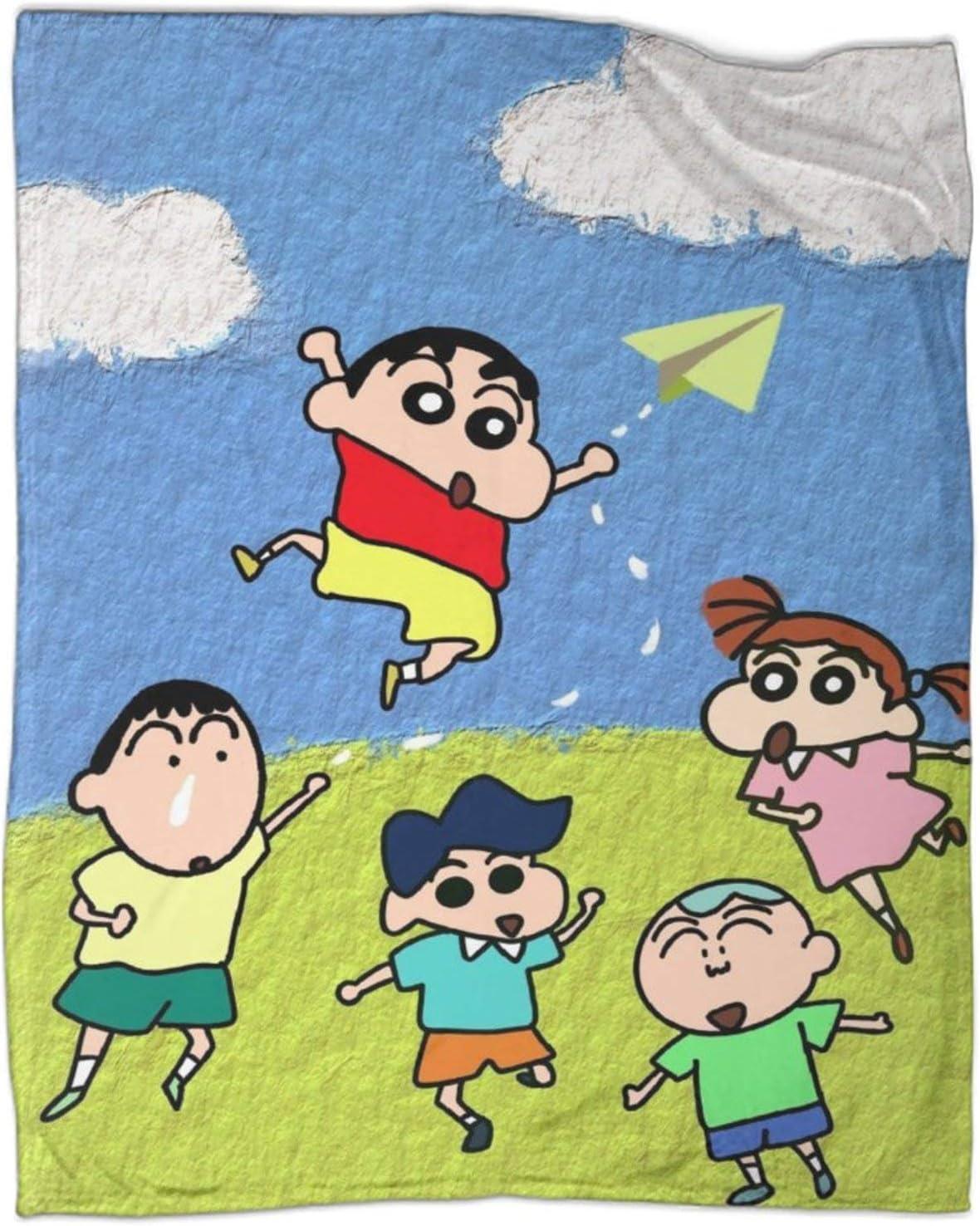 Crayon Shin-chan Shinchan Friends Cartoon Comics Plush Blankets for Home Use Blankets 30x40inch(80x100cm)