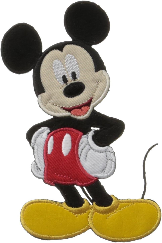 schwarz Bügelbild 6,5x6,5cm Mickey Mouse Disney Comic Kinder Aufnäher