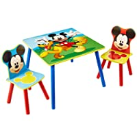 Mickey Mouse Disney Kids Table and 2 Chair Set by HelloHome