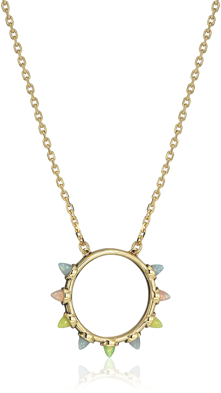 Rebecca Minkoff Womens Rainbow Spear Pendant Necklace