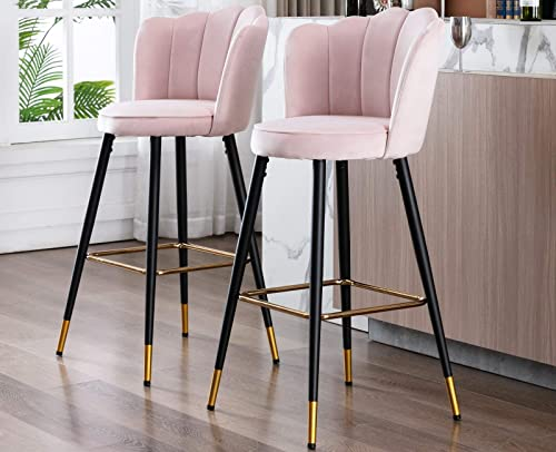 2 Pack Velvet 30″ Inch Bar Stool